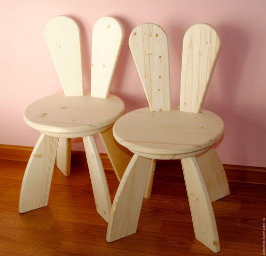 Детская ручной работы. Ярмарка Мастеров - ручная работа. Купить Детский Стульчик Кролик. Детская Мебель на заказ. Handmade. Стулья