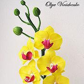 Цветы и флористика ручной работы. Ярмарка Мастеров - ручная работа Желтая орхидея фаленопсис. Handmade.