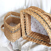 Для дома и интерьера handmade. Livemaster - original item Box storage wicker, triangular corner shelves. Handmade.