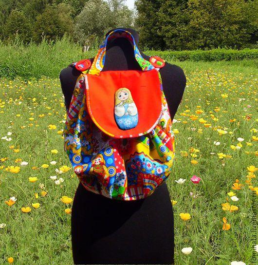 """Рюкзаки ручной работы. Ярмарка Мастеров - ручная работа. Купить сумка-рюкзак """" Матрешка"""". Handmade. Комбинированный, рюкзак детский"""