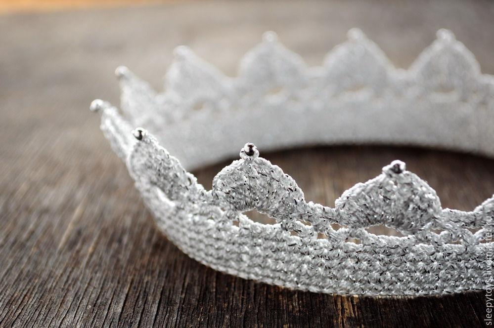 вязаная корона для фотосессии купить в интернет магазине на