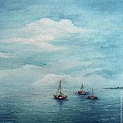"""Картины и панно ручной работы. Ярмарка Мастеров - ручная работа """"Северное море"""" картина масло. Handmade."""
