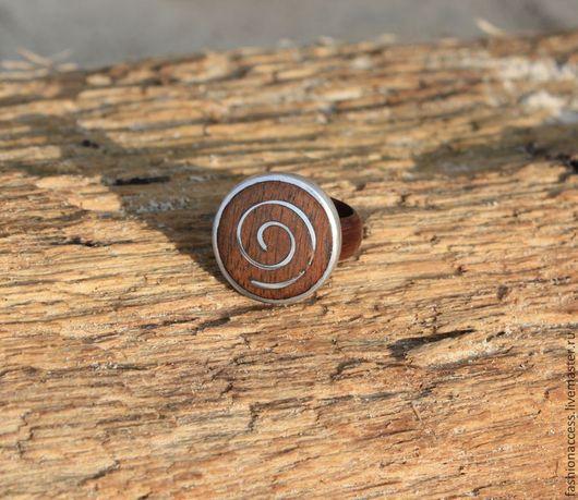 """Кольца ручной работы. Ярмарка Мастеров - ручная работа. Купить Кольцо """"Спирали 2"""" из дерева и серебра 925 пробы. Handmade."""