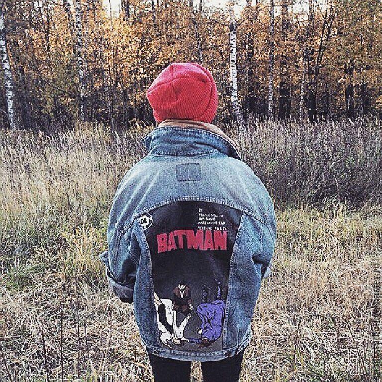 Джинсовая куртка с рисунком, Куртки, Москва, Фото №1
