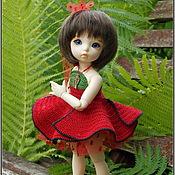 Куклы и игрушки ручной работы. Ярмарка Мастеров - ручная работа Красный мак - платье для куклы. Handmade.