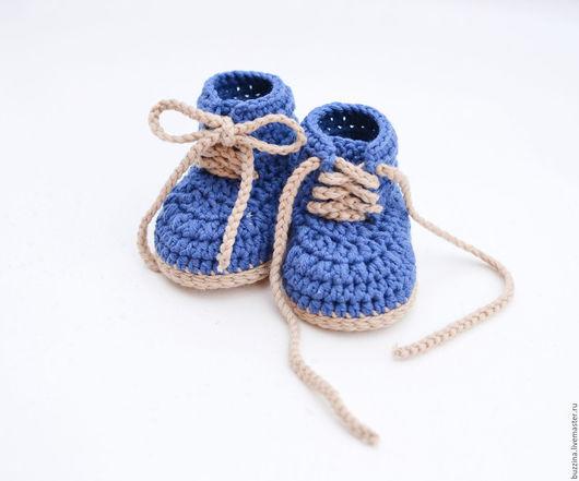 Для новорожденных, ручной работы. Ярмарка Мастеров - ручная работа. Купить Пинетки для новорожденного пинетки ботиночки для мальчика. Handmade. Пинетки