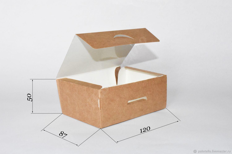 Крафт-коробка NEW - 120х85х50мм, Коробки, Москва,  Фото №1