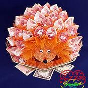 Букет из конфет и денег
