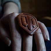 Украшения handmade. Livemaster - original item Ring mahogany WOT. Handmade.
