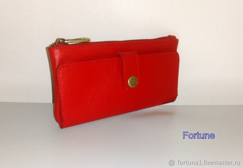 Wallet leather ' Red', Wallets, St. Petersburg,  Фото №1