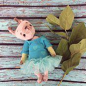 Куклы и игрушки ручной работы. Ярмарка Мастеров - ручная работа Зайка Лили в голубом платье. Handmade.