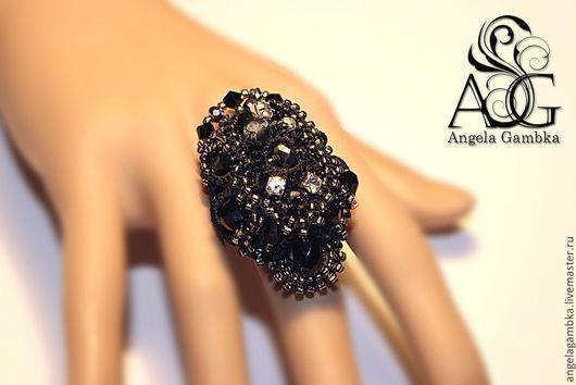 """Кольца ручной работы. Ярмарка Мастеров - ручная работа. Купить Перстень, кольцо """"Корнелия"""". Handmade. Черный, вечернее кольцо"""