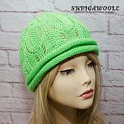 Аксессуары handmade. Livemaster - original item Beanie green. Handmade.