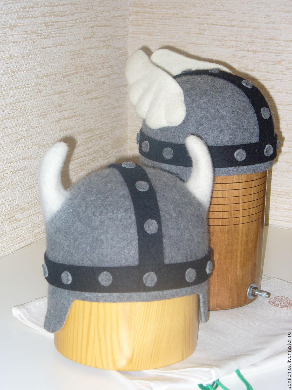 """Банные принадлежности ручной работы. Ярмарка Мастеров - ручная работа. Купить Банная шапка """"Астерикс и Обеликс"""". Handmade. Шапка для бани"""