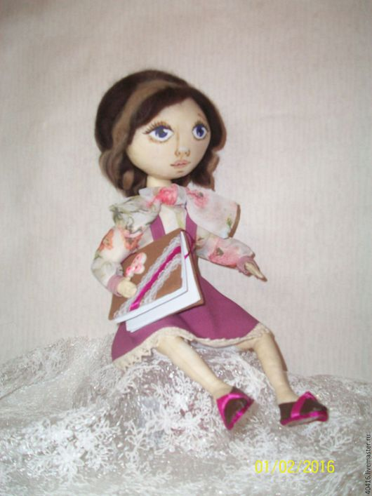 Коллекционные куклы ручной работы. Ярмарка Мастеров - ручная работа. Купить Анастасия. Handmade. Коричневый, бежевый, шерсть для валяния