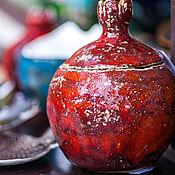 Для дома и интерьера ручной работы. Ярмарка Мастеров - ручная работа Керамическая шкатулка гранат. Handmade.