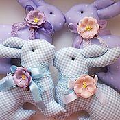 Куклы и игрушки ручной работы. Ярмарка Мастеров - ручная работа Лавандовые кролики в стиле тильда. Handmade.
