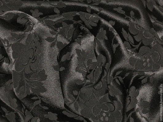 Реставрация. Ярмарка Мастеров - ручная работа. Купить винтажная ткань с цветами. цвет черный.. Handmade. Черный, винтажная ткань