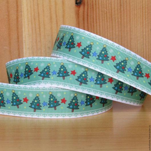 Шитье ручной работы. Ярмарка Мастеров - ручная работа. Купить 0197 Репсовая лента 22 мм новогодняя. Handmade.
