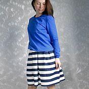 Одежда ручной работы. Ярмарка Мастеров - ручная работа Юбка в морском стиле, юбка в полоску. Handmade.