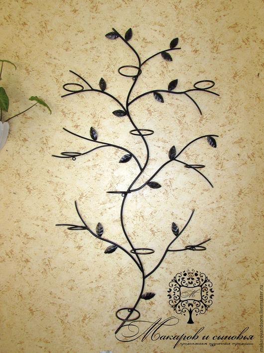 Подставки под цветы ручной работы. Ярмарка Мастеров - ручная работа. Купить Кованая настенная полка для цветов Дерево. Handmade.