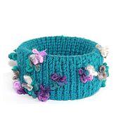 Украшения handmade. Livemaster - original item Bracelet knitted Flemish violet. Handmade.