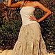 Платья ручной работы. Платье- бандо с вышивкой и пайетками. image4you (Лариса). Интернет-магазин Ярмарка Мастеров. Сарафан, платье летнее
