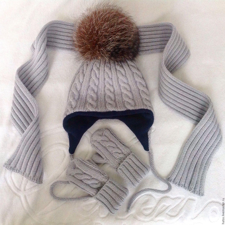Вязание варежек и шарфов для детей 56