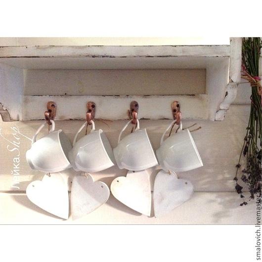 """Мебель ручной работы. Ярмарка Мастеров - ручная работа. Купить Полка""""прованс"""". Handmade. Белый, мебель из дерева, подарок"""