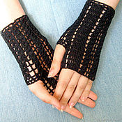 Аксессуары handmade. Livemaster - original item Lace mitts, the author`s pattern knitted women`s. Handmade.