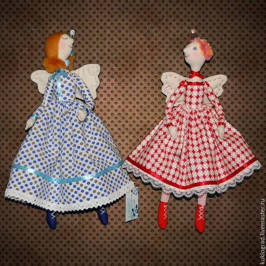 Коллекционные куклы ручной работы. Ярмарка Мастеров - ручная работа. Купить Феечки настроения. Текстильные куклы.. Handmade. Комбинированный, сатин