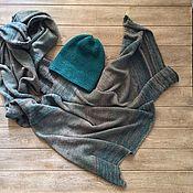 """Аксессуары ручной работы. Ярмарка Мастеров - ручная работа """"Русалка"""" шапка и шарф-кокон. Handmade."""