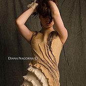 Одежда handmade. Livemaster - original item Dress of Merino wool and silk