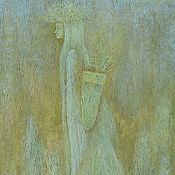 Картины и панно ручной работы. Ярмарка Мастеров - ручная работа Картина фэнтези Северное Лето. Живопись.. Handmade.