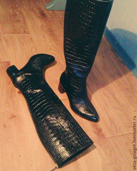 Обувь ручной работы. Ярмарка Мастеров - ручная работа. Купить Сапоги ручной работы.. Handmade. Черный, зимние сапоги