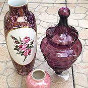 Винтаж handmade. Livemaster - original item Victorian Candy Bowl. Amethyst glass.. Handmade.