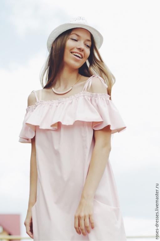 """Платья ручной работы. Ярмарка Мастеров - ручная работа. Купить Платье""""Leticia"""". Handmade. Бледно-розовый, розовый цвет"""
