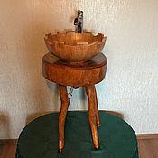 Столы ручной работы. Ярмарка Мастеров - ручная работа Стол из ясеня под мойку с элементами декора (копытце). Handmade.