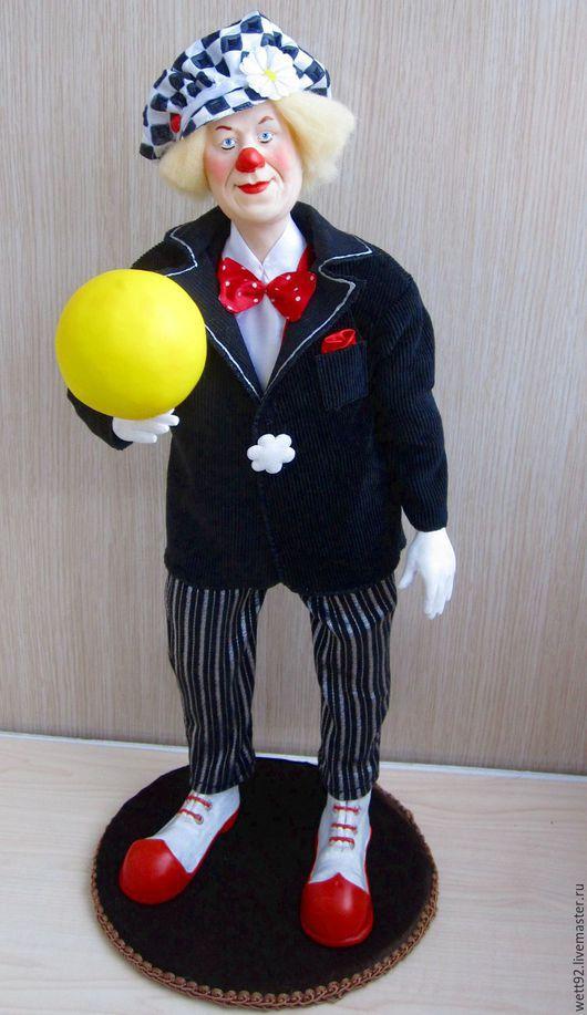 """Портретные куклы ручной работы. Ярмарка Мастеров - ручная работа. Купить Авторская кукла """" Солнечный клоун"""". Handmade. Клоун"""