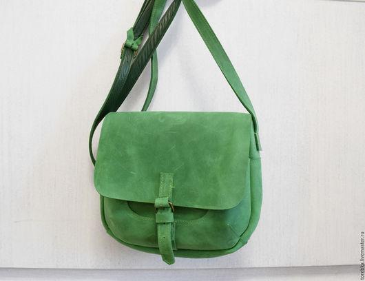 Женские сумки ручной работы. Ярмарка Мастеров - ручная работа. Купить Весенне-зеленая сумочка. Handmade. Яркая, минимализм, яркий
