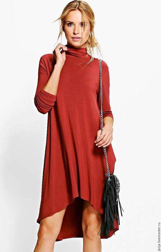 Платья ручной работы. Ярмарка Мастеров - ручная работа. Купить Multilevelled dress in cinnamon. Handmade. Коричневый, осеннее платье