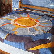 """Для дома и интерьера ручной работы. Ярмарка Мастеров - ручная работа Покрывало """" Солнце в море"""". Handmade."""