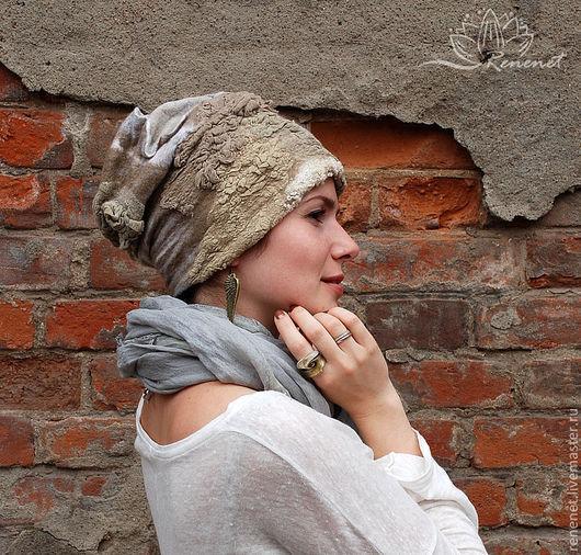 """Шапки ручной работы. Ярмарка Мастеров - ручная работа. Купить Валяная шапка """"Природные рельефы"""". Handmade. Зимняя шапка, бохо"""