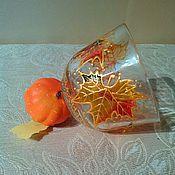 Посуда ручной работы. Ярмарка Мастеров - ручная работа Чашки (пара чашек) Золотая осень. Handmade.