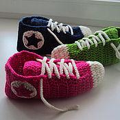 """Обувь ручной работы. Ярмарка Мастеров - ручная работа Кеды вязаные """"Конверсы"""". Handmade."""