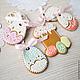 Gingerbread Easter Filigrane. Gingerbread Cookies Set. prynik. My Livemaster. Фото №4