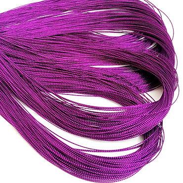 Материалы для творчества ручной работы. Ярмарка Мастеров - ручная работа Шнур фиолетовый люрекс (диаметр 1 мм). Handmade.