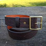 Аксессуары handmade. Livemaster - original item Strap leather, mod. Lend Lease Vintage 45MS orange. Handmade.