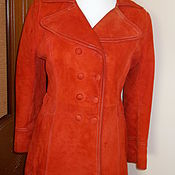 Винтаж handmade. Livemaster - original item Raincoat-trench coat suede natural 48 R vintage. Handmade.