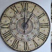 """Для дома и интерьера ручной работы. Ярмарка Мастеров - ручная работа часы настенные """"Daino"""" 75см диаметр. Handmade."""